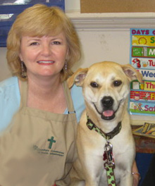 Debbie and her mixed Labrador dog have been a therapy team since 2009.